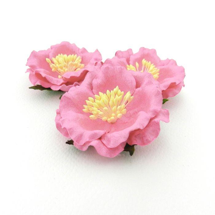 ורד יפני - ורוד בהיר בהיר 4 פרחים