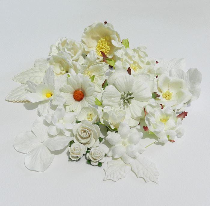 מיקס פרחים לבן