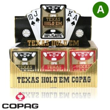 זמנית אזל, קלפים פלסטיק איכותי קופג טקסס הולדם COPAG