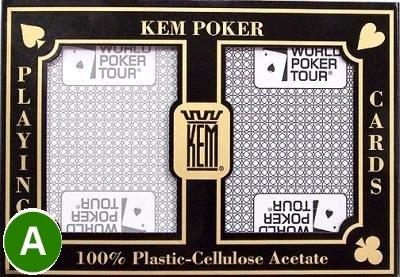 אזל במלאי, קלפים KEM WPT פלסטיק איכותי לטורניר פוקר