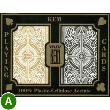 אזל. קלפים KEM פלסטיק שחור ARROW לפוקר 21