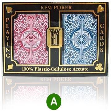 אזל, קלפים KEM פלסטיק איכותי ARROW לפוקר 21