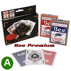 אזל במלאי, קלפים BEE 92 פרימיום איכותי לפוקר ברידג' ורמי