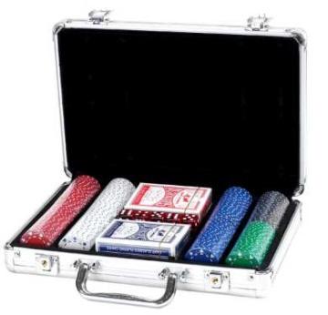 """מזוודה איכותית לפוקר 200 ז'יטון 11.5 ג""""ר סוט"""