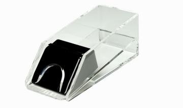 סנדל קלפים שקופה לשולחן דילר פוקר בלק גק 21