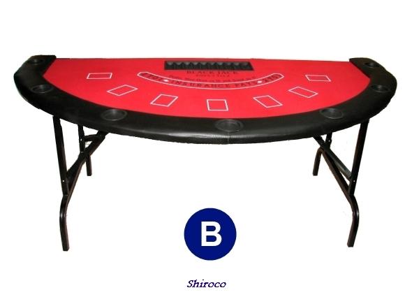 אחרון כחול במלאי, שולחן בלק ג'ק מתקפל