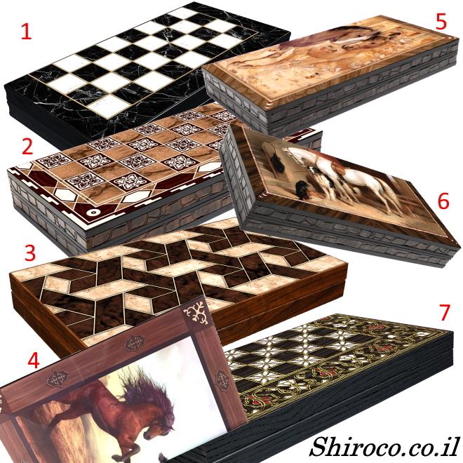 לוח שש בש איכותי מעץ