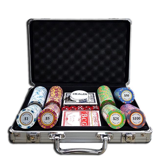 מזוודה 200 חימר מונטה קרלו 14 גרם קראון