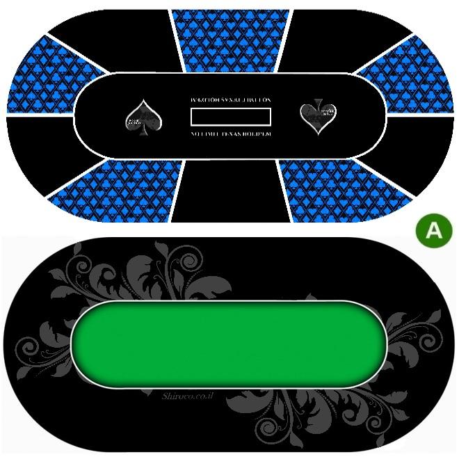 """טופ גומי לשולחן מעוצב קלפים עבה במיוחד 3 מ""""מ"""