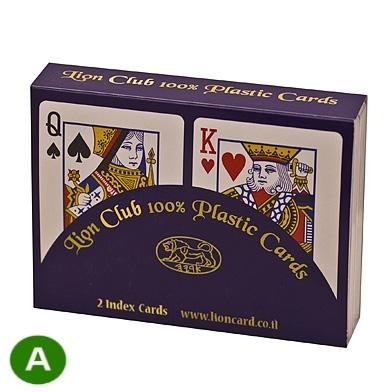קלפים ליון למשחקי רמי ברידג' איכותי
