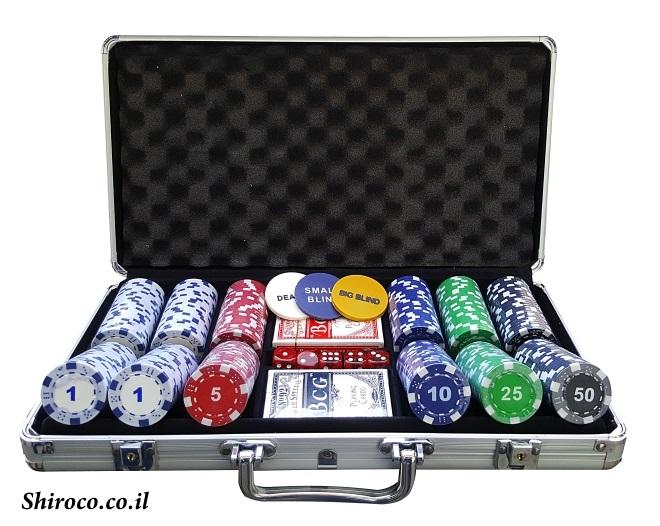 מבצע אחרונים במלאי, מזוודה 300 11.5 גרם דייס עם ערכים