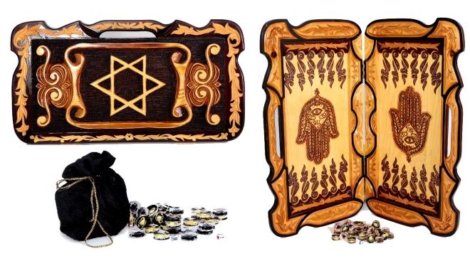 שש בש עבודת יד מגן דוד