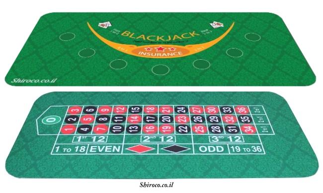 טופ שולחן מעוצב גומי לקלפים