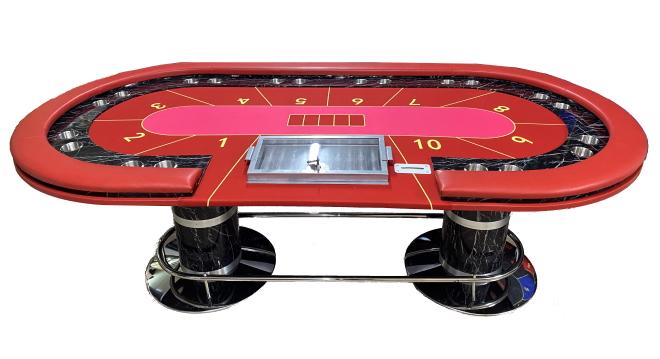"""שולחן פוקר """"אנקור"""" מפואר 2.40"""