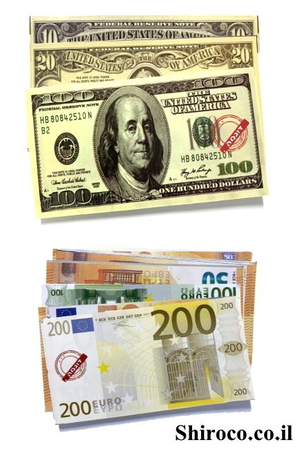 כסף וירטואלי שטרות דולר יורו למשחק