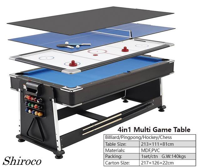שולחן משחק קומבו איכותי ומאובזר 7F