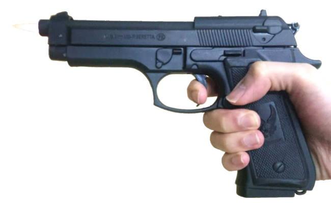 """אקדח מצית ברטה 9 מ""""מ שחור A"""