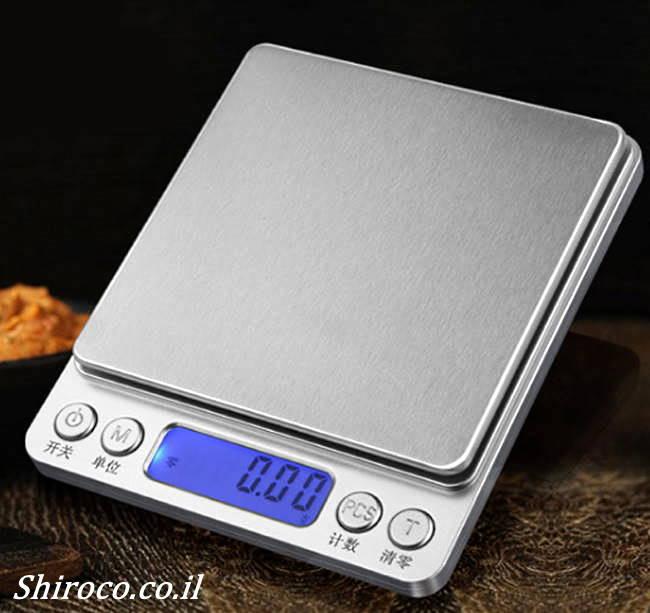 משקל דיגיטלי נייד עד 500 ג'ר