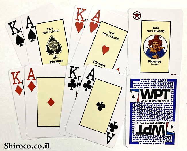 מבצע ענק - קלפים לפוקר WPT SILVER (ליחידה)