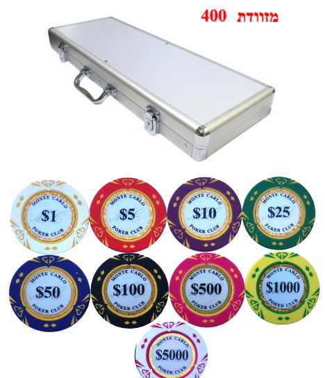 מזוודה 400 חימר DIAMOND 14 גרם