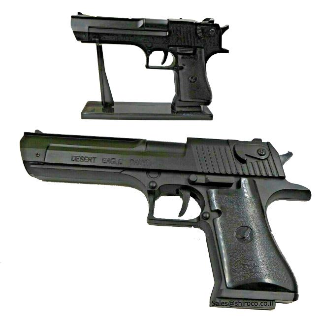 """אקדח מצת נשר המדבר 9 מ""""מ שחור"""