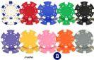 ז'יטונים DICE לפוקר 21 בשלל צבעים