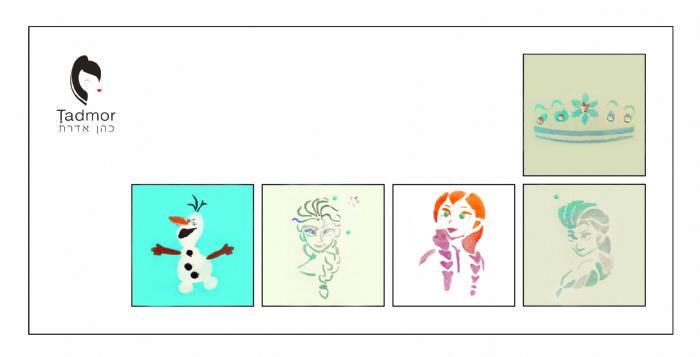 תמונה של ערכת משחקי איפור + מעטפת כתר שלג