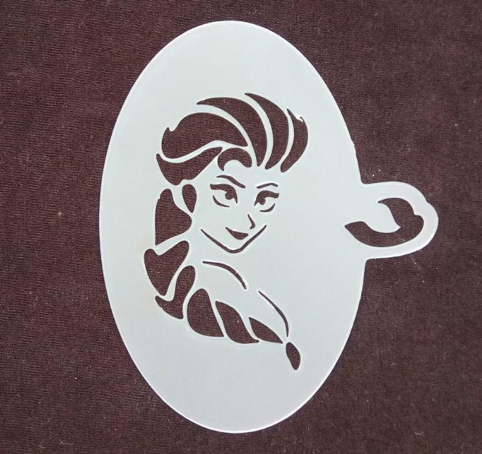 תמונה של שבלונת נסיכה עם צמה