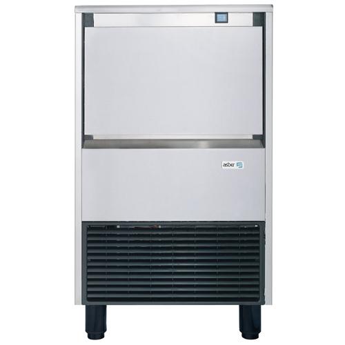 מכונת קוביות קרח חצויות עם תא אכסון