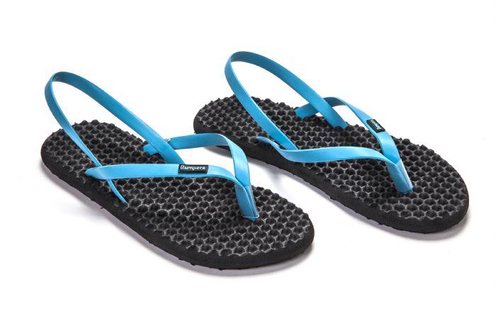 bumpers sandals // שחור כחול