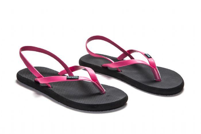 flat sandals // שחור ורוד