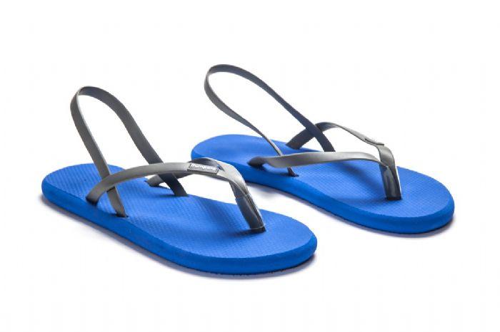 flat sandals // כחול אפור
