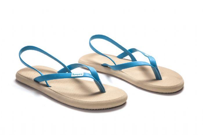 flat sandals // בז' כחול