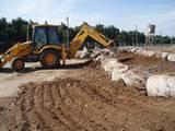 בניית מסלעות בקיבוץ דן