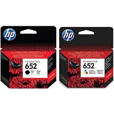 זוג מחסניות דיו מקורי HP 652 (שחור וצבעוני)