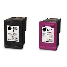 סט ראשי דיו 652 XL שחור תואם + צבעוני 652 תואם