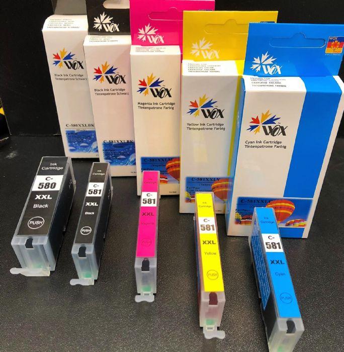 סט דיו למדפסת Canon  תואם  PGI580XXL-CLI581XXL