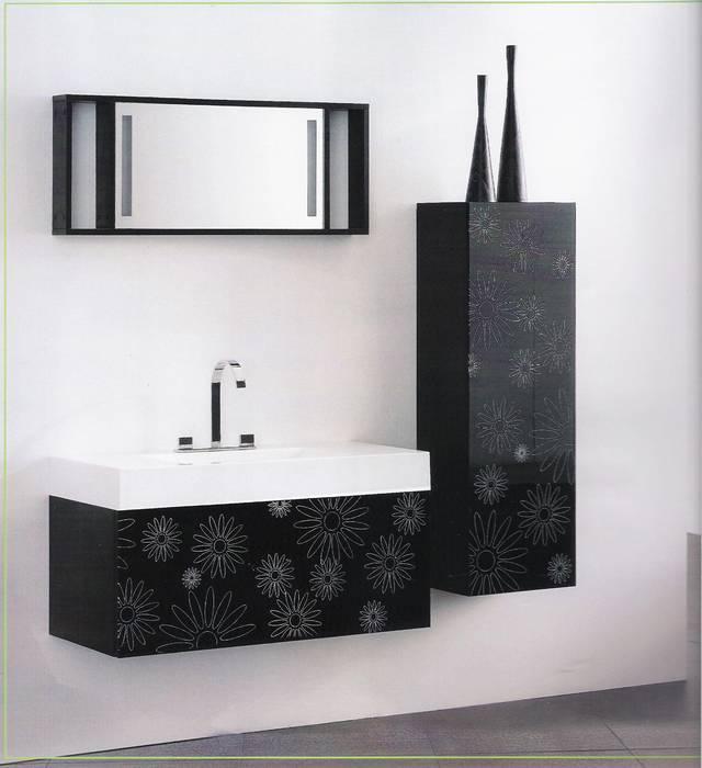 """מבצע חיסול עודפי יבוא ארון אמבטיה דגם-נרקיס- מידה 100 ס""""מ-חזית הארון זכוכית פרחים לבנים.- יבוא HB - אמבט חלומי.אספקה מיידית."""