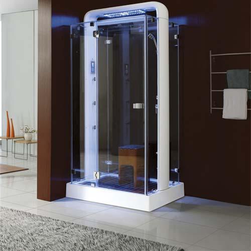 """מקלחון עיסוי+סאונה -מידות-110-90 ס""""מ-יבוא HB אמבט חלומי."""