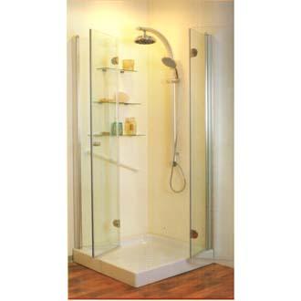 מקלחון אומגה מפואר s -הנעלם תוצרת שטרן כחול לבן לפי מידה בבית .
