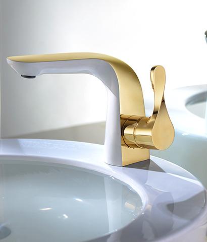 ברז פרח -דגם שגאל זהב+לבן.או ניקל+לבן.