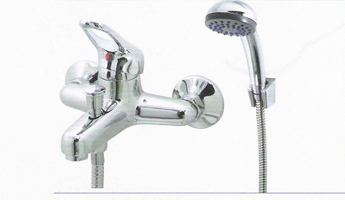 סוללה לאמבטיה-כולל צינור +מזלף+תפסן