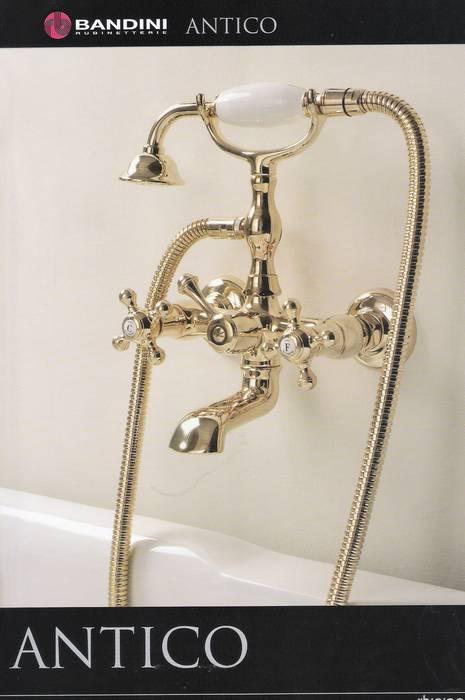 סוללה לאמבטיה ענתיק-זהב-תוצרת בנדיני איטליה.