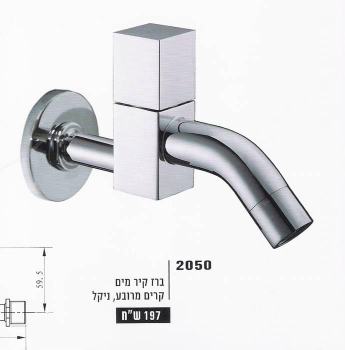 ברז קיר מים קרים מרובע-2050