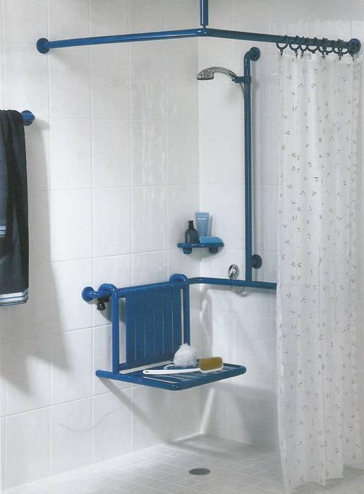 תמונה להמחשה-איבזור פינת מקלחת לבעלי מוגבלות.