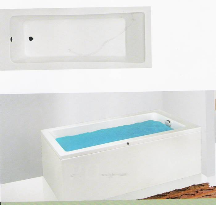 """מבצע-אמבטיה מלבנית מיוחדת-קווים ישרים-מידה 180-80 ס""""מ .ניתן לקבל בגדלים נוספים"""
