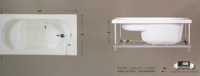 """אמבטיה ישיבה מידות-140-70 ס""""מ דגם-25"""