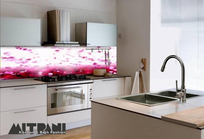 חיפוי זכוכית מודפסת למטבח-דוגמא 28 ורוד.