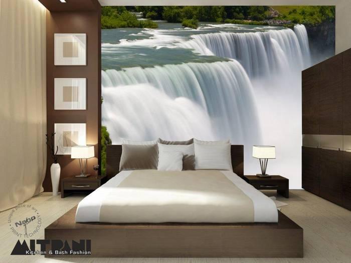 חיפוי זכוכית מודפסת-דוגמא 58 מפלים במיטה.