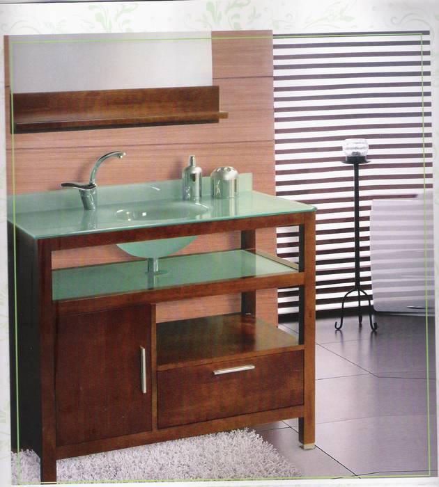 """ארון אמבט דגם- k-w047עץ מלא .מידה 100 ס""""מ . משטח זכוכית"""